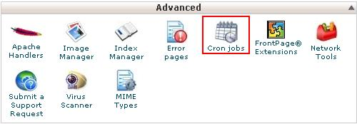 Select Cron job in Cpanel