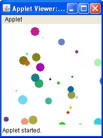 Bouncing Ball applet - Create ball on Mouse click of random size and random color