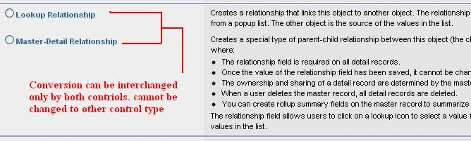 Master detail and look up relationship Salesforce