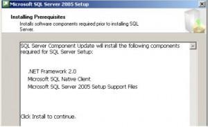 SQL Server 2005 Prerequisites