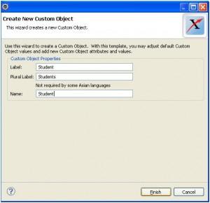 Create Custom object Eclipse Salesforce
