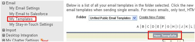 Create Email Template in Salesforce