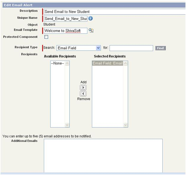 Salesforce add email alert in workflow action