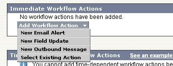 Salesforce creating Workflow rule step 3