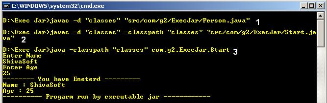 Compile and run Java Program in Package from Command Line