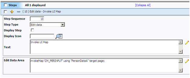 Edit Data Step in BPA Script of Oracle Utilities / ORMB / CC&B