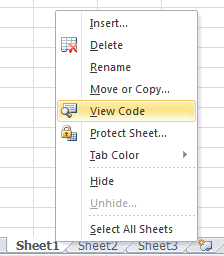 View Code in Microsoft Excel