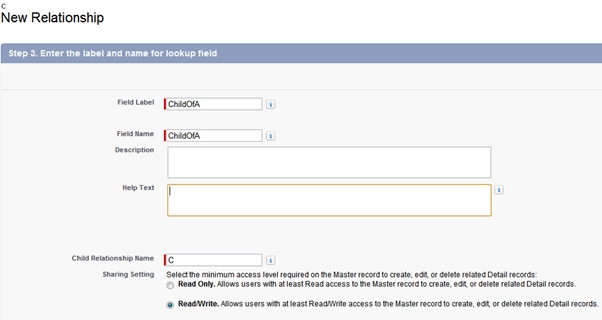 Salesforce Master-Detail relationship - Give the field Name