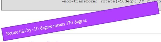 CSS 3 Tutorial Rotate