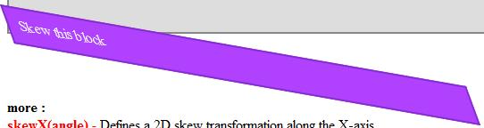 CSS 3 Tutorial Skew
