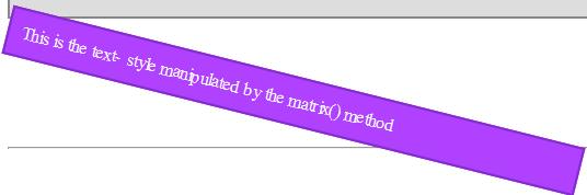 CSS 3 Tutorial matrix