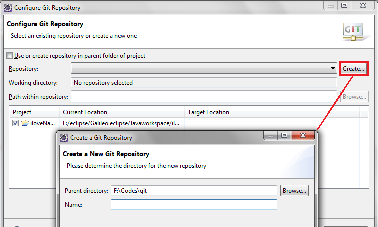 Configure Git Repository in Eclipse