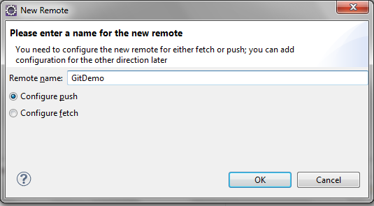 Git Create New Remote in Eclipse - Salesforce