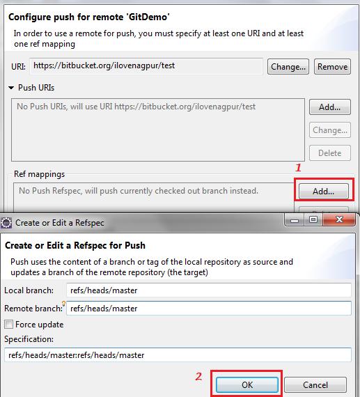 Git Ref Mappings - Eclipse - Salesforce