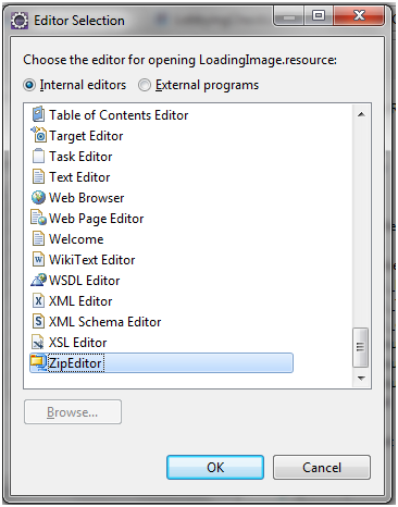 Eclipse Force.com Select Editor for Static Resource