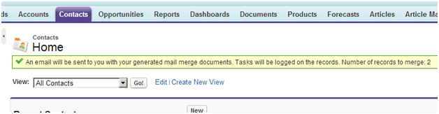 Extended Mail Merge - XMM Confirmation Window