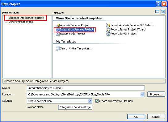 how to create ssis package in visual studio 2013