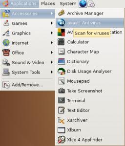Open Avast Antivirus in ubuntu