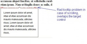 Telerik Tooltip, Rad Control Tooltip problem