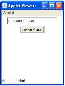 Event Handling using Anonymous Class in Applet