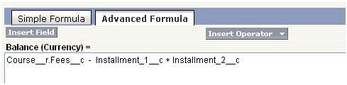 Formula fields in Salesforce.com