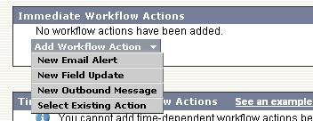 Salesforce creating Workflow rule step 3
