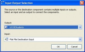 Input Output Selection in Conditional Split