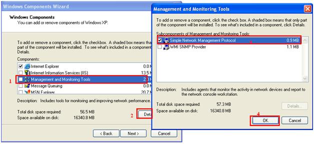 Install SNMP Service in Windows XP