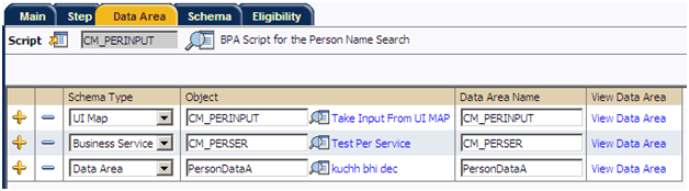Add Data Area for BPA Script in Oracle Utilities / CC&B / ORMB