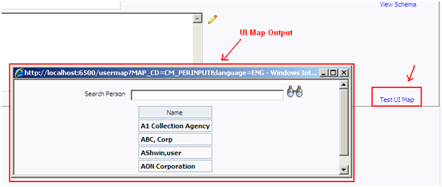 Test UI Map in Oracle Utilities / CC&B / ORMB