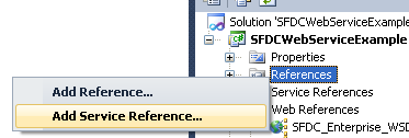Add Service Reference in C#