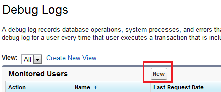 List of Users for Debug log enabled Salesforce