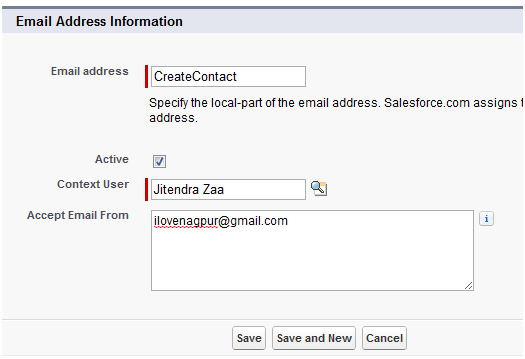 Email Services in Salesforce with simple example – Jitendra