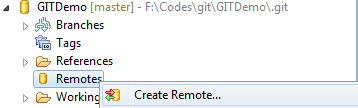 Create Remote Git Repository Eclipse for Salesforce