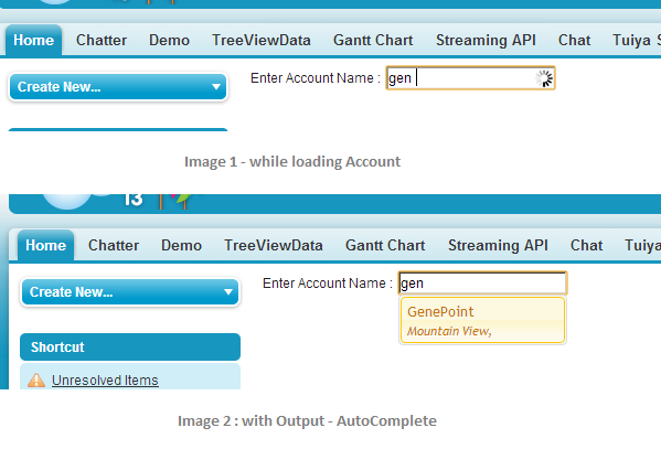 JQuery UI and JSON based AJAX AutoComplete Component in Salesforce